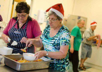 Christmas dinner helper elves